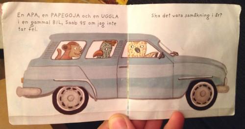 Uppslag i boken Åkshow, av Amanda Eriksson.