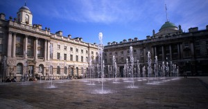 Fountains vid Somerset House i London