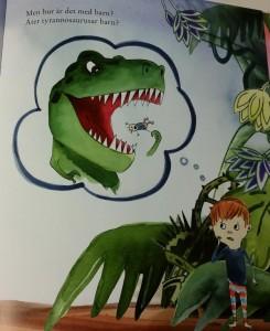 Ivar föreställer sig hur tyrannosaurusar äter barn