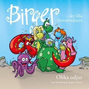 Birger - det lilla Storsjöodjuret. Olika odjur