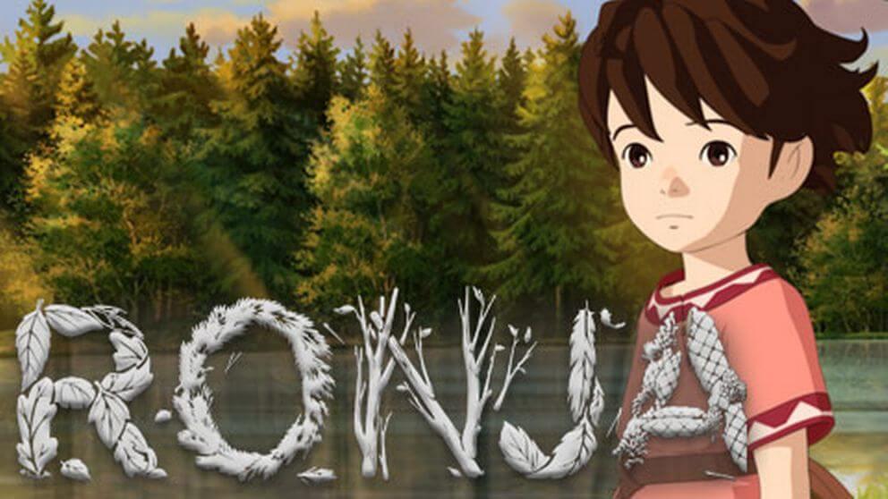 Animerade Ronja. Bild lånad från http://www.svtplay.se/ronja-rovardotter