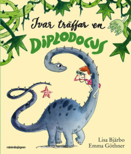 Ivar träfar en diplodocus
